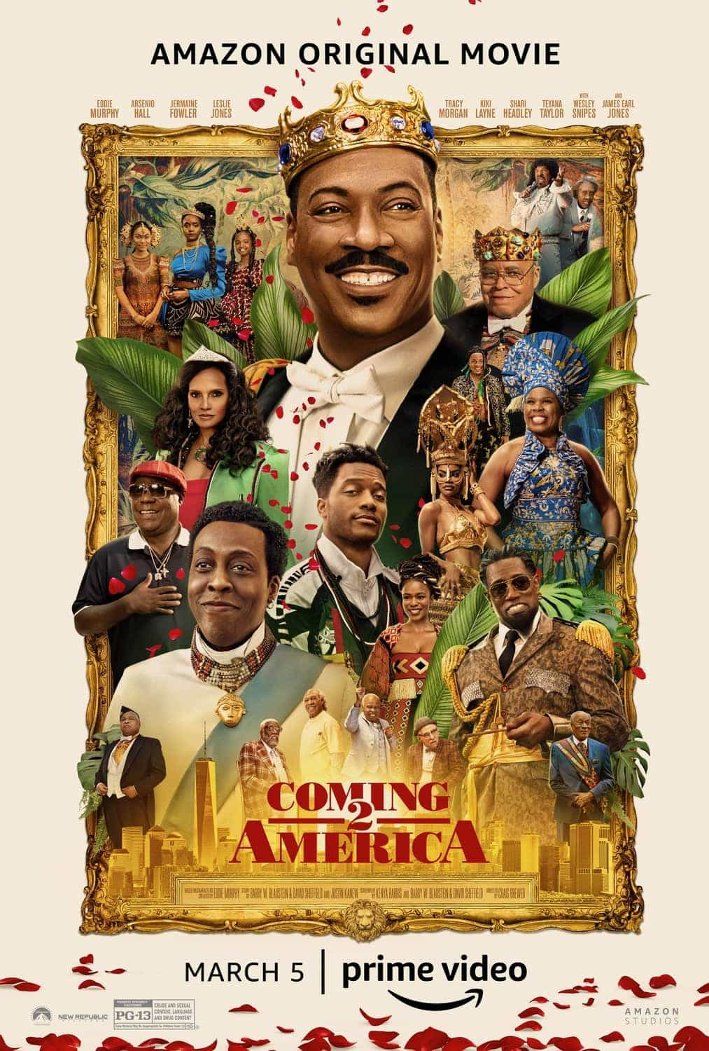 Coming 2 America is given a 12 age rating in the UK for moderate sex references, violence, drug misuse, language, discrimination