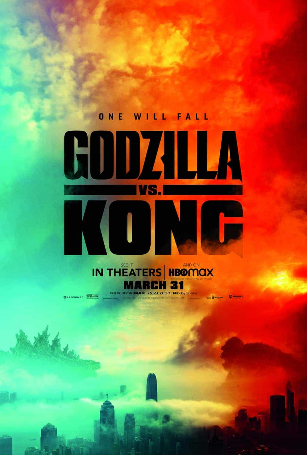 US Box Office Figures 9th - 11th April 2021:  Godzilla and Kong have another high grossing weekend and stay at the top for a second week