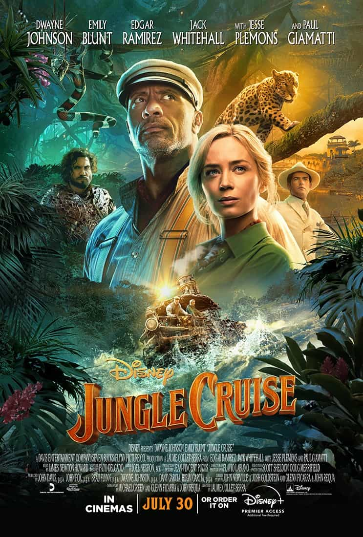World Box Office Figures 30th July - 1st August 2021:  Jungle Cruise sails to the top of the global box office on its debut