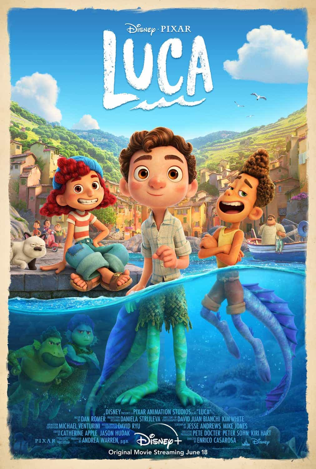 New poster for Disney/Pixars Luca - new trailer coming 25th February, release date 18th June 2021