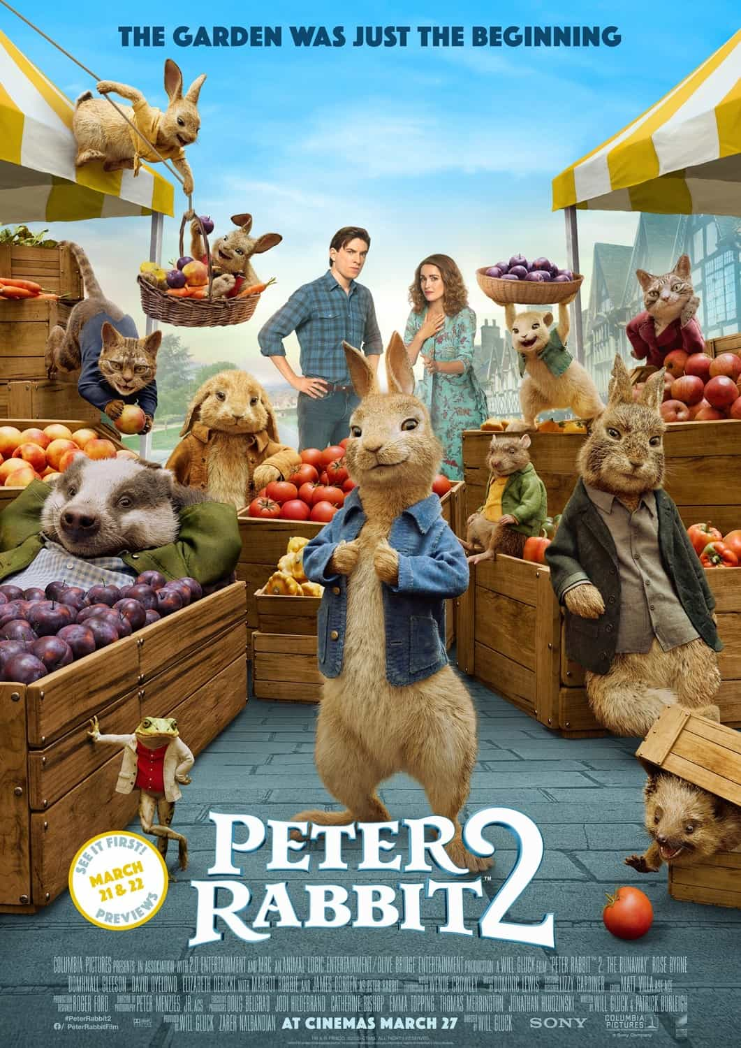 Peter Rabbit 2 is the top movie in the UK on the first day of the re-opening as cinemas doors open for the first time in 2021