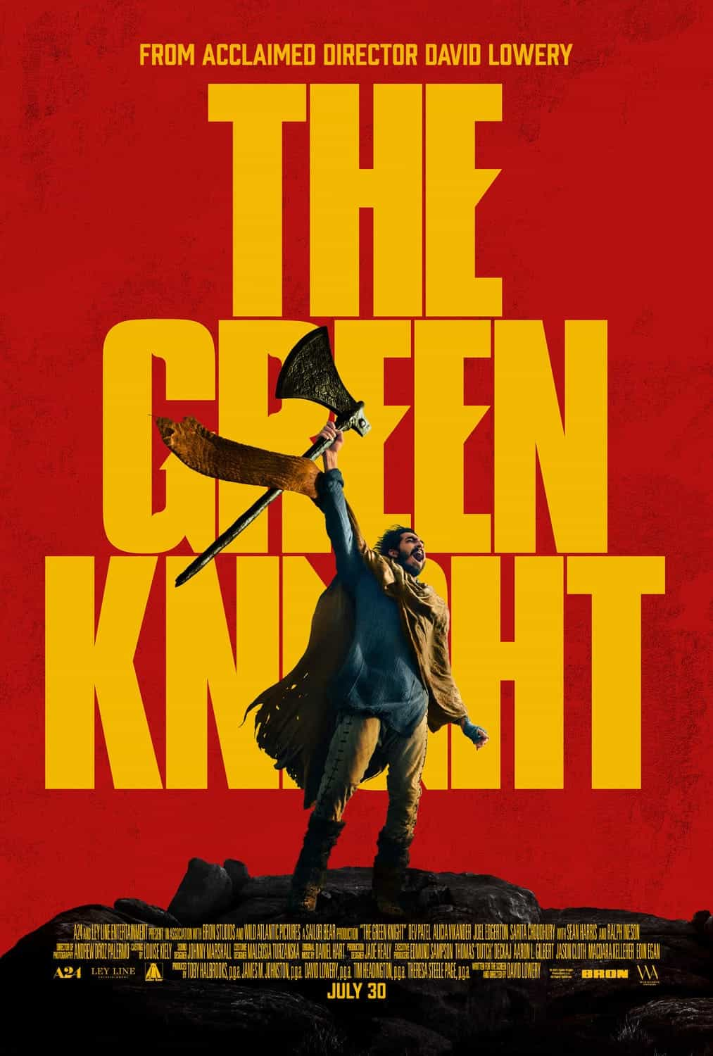 New poster released for The Green Knight starring Dev Patel - movie release date 6th August 2021